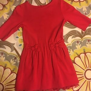 Baby Gap, size 4T, red knit dress with tool
